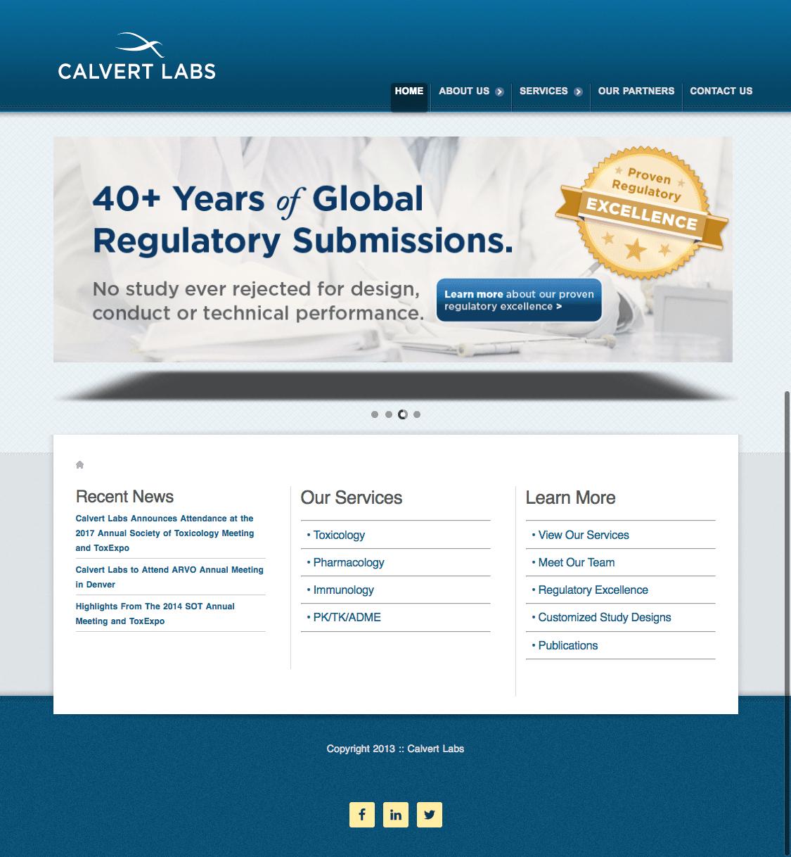 calvert labs - home page - pixallus
