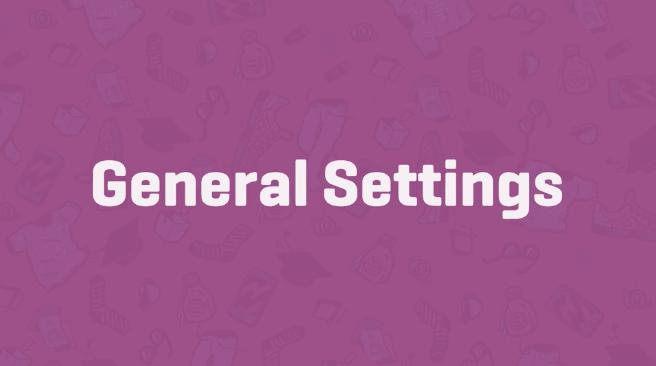 Woocommerce General settings