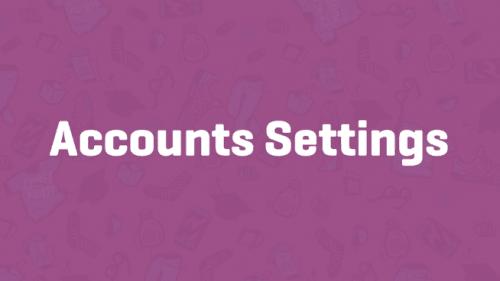 woocommerce account settings