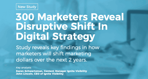 300 markters reveal disruptive shift in digital strategy - Ignite Visibility - pixallus