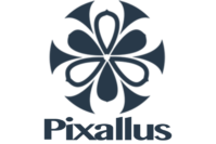 pixallus dark blue logo vertical