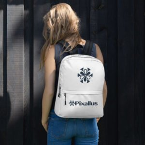white backpack pixallus