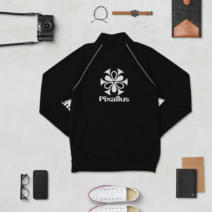 piped fleece jacket pixallus