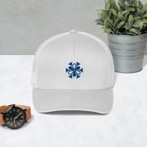 Pixallus White Mesh Cap