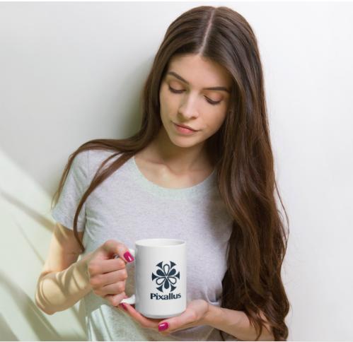 pixallus-white coffee mug