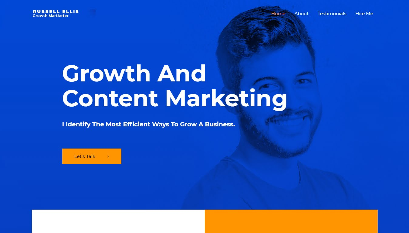 astra growth marketing template