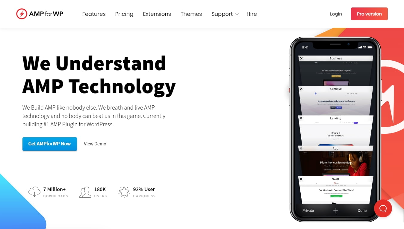 AMP for WP download page