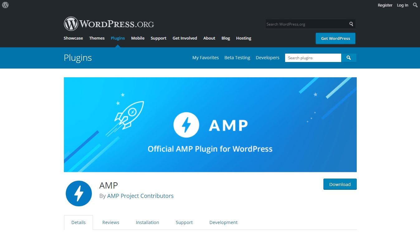 Official AMP plugin for WordPress on WordPress.org