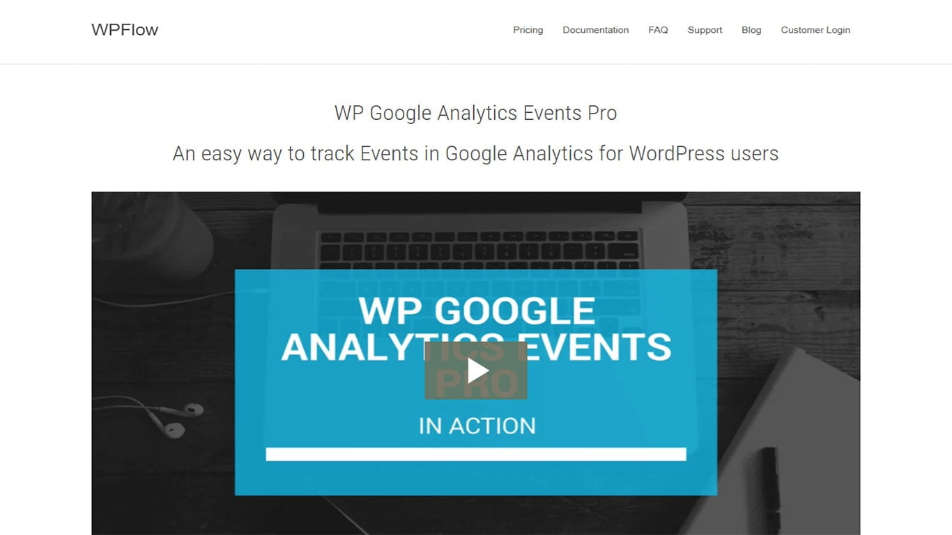 WP Google Analytics plugin image