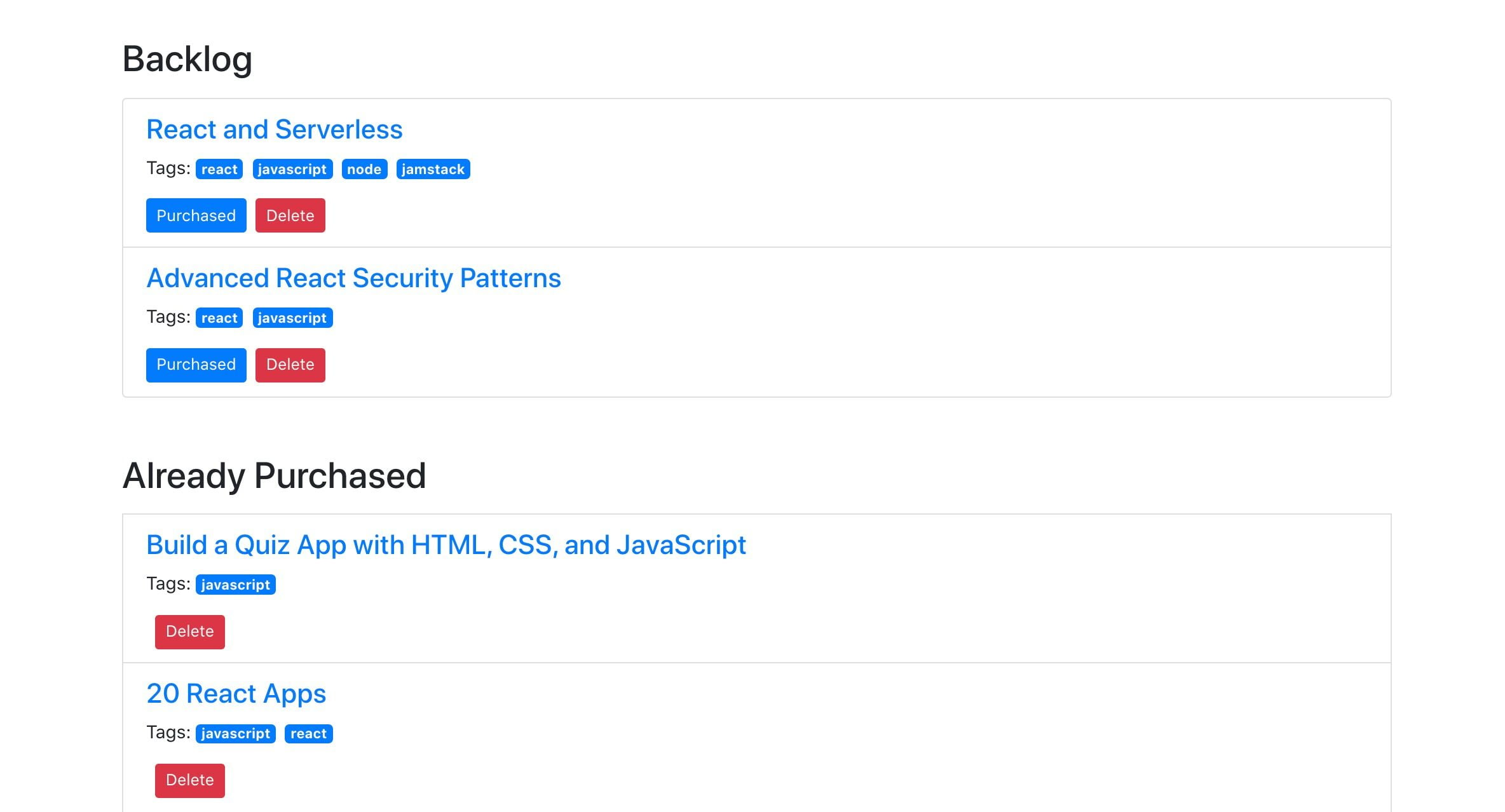 Going Jamstack with React, Serverless, and Airtable 43
