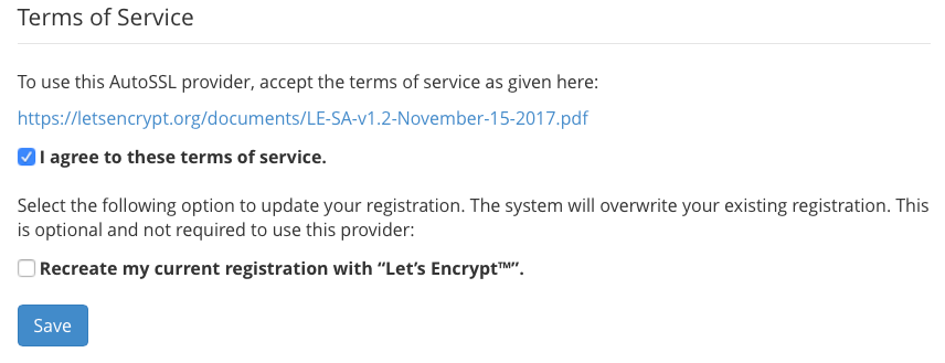 How to Configure and Manage Let's Encrypt in cPanel 18