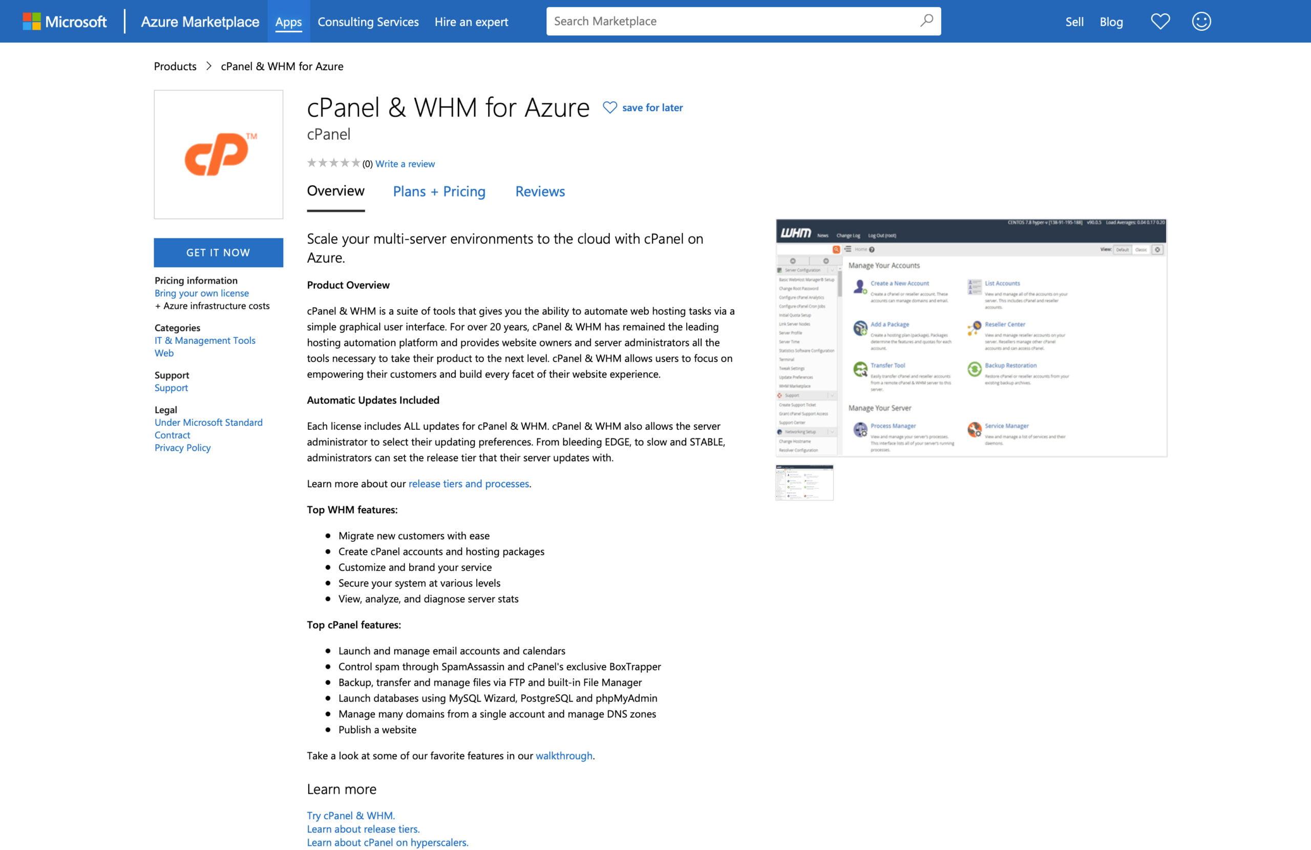 Deploying cPanel & WHM on Microsoft Azure 18
