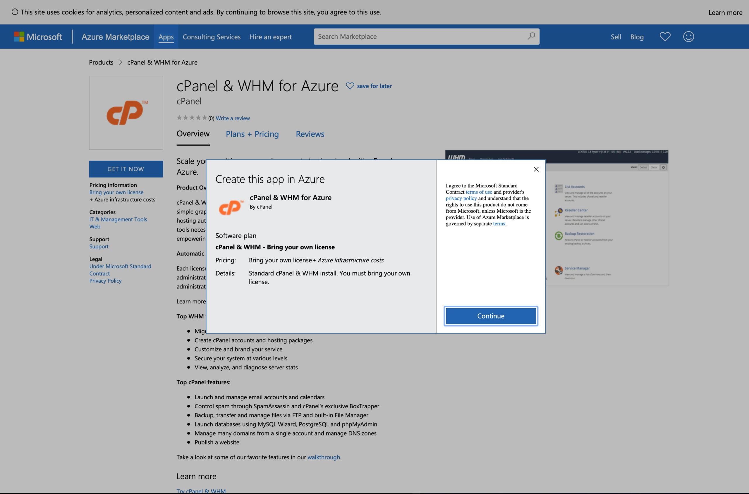 Deploying cPanel & WHM on Microsoft Azure 19