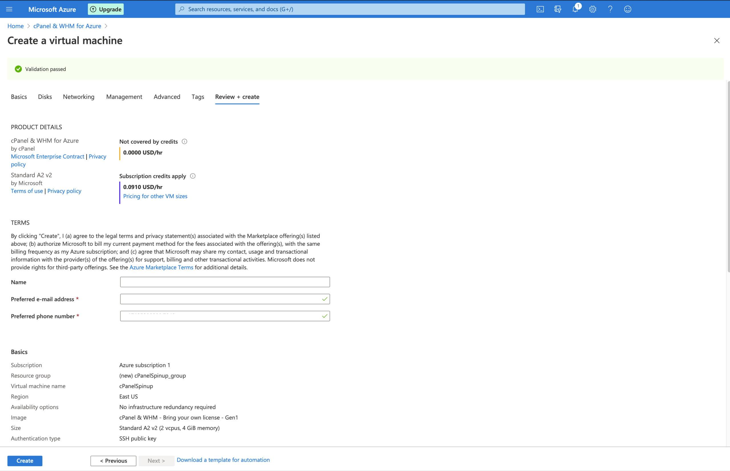Deploying cPanel & WHM on Microsoft Azure 21