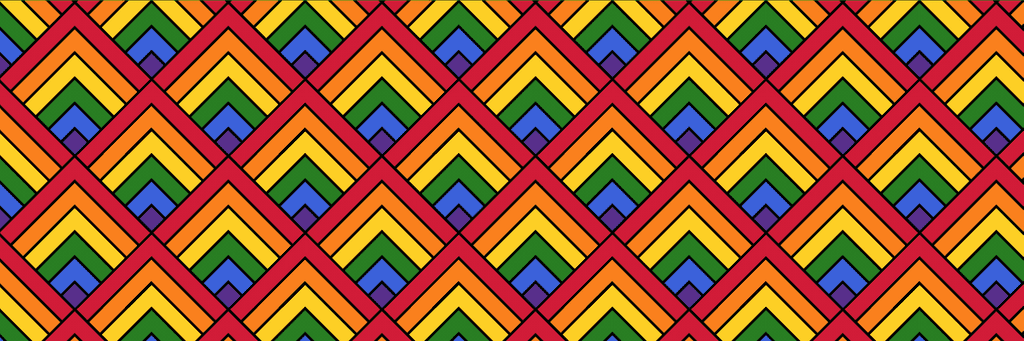 A repeating pattern of colorful squares