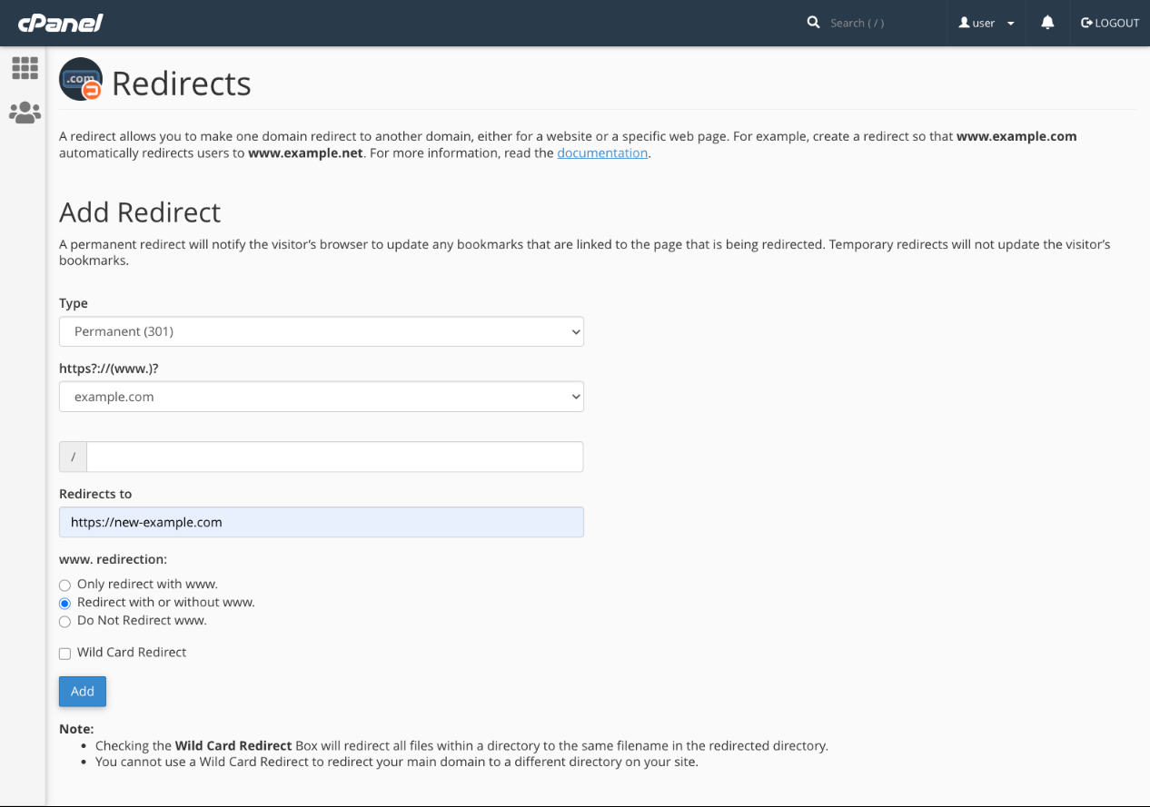 How To Redirect An IP To A Domain & Configure Domain Redirects In cPanel® 28