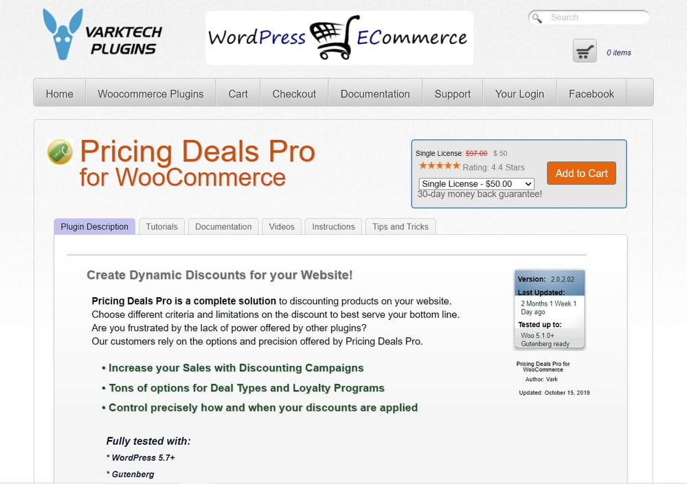 Pricing Deals Pro for WooCommerce by Varktech