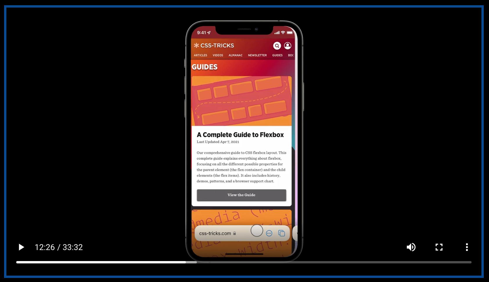 Safari 15: New UI, Theme Colors, and… a CSS-Tricks Cameo! 5