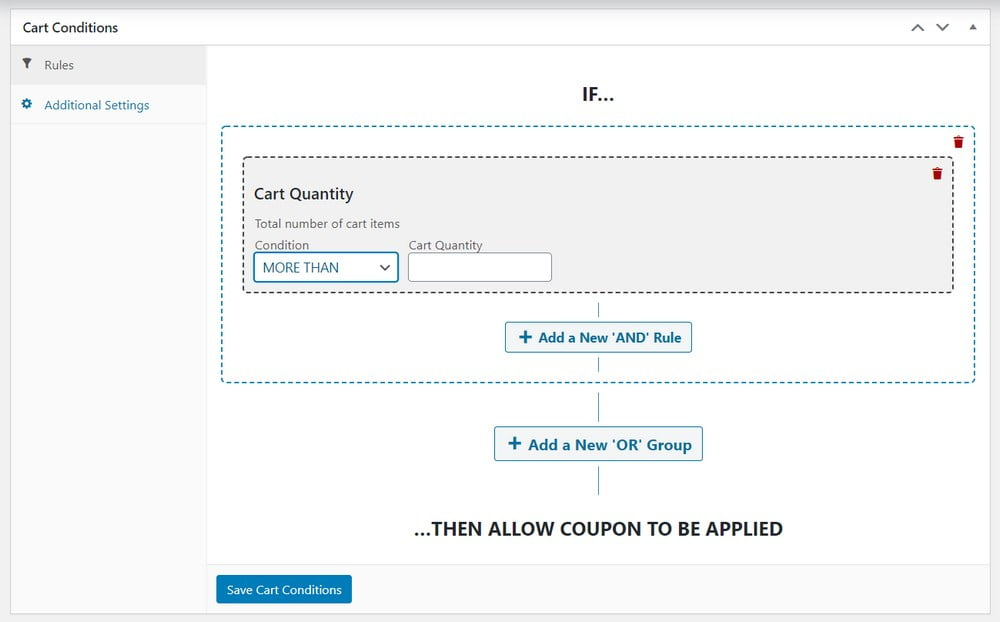 WooCommerce cart conditions 2