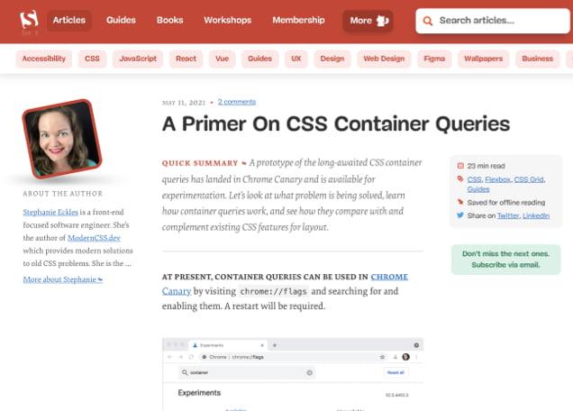 A Cornucopia of Container Queries 24