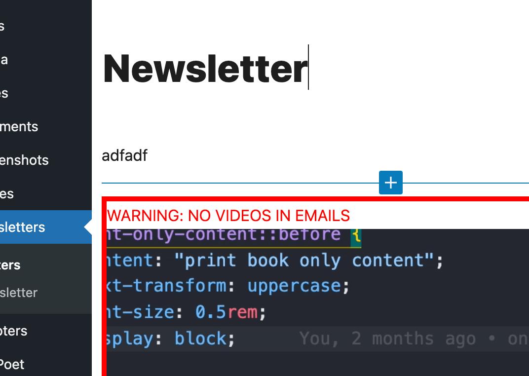 WordPress Admin Warnings in the Block Editor 6